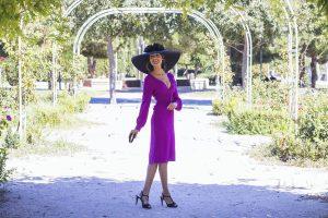 Look invitada boda dia mañana vestido buganvilla pamela