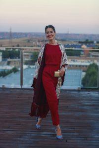Invitada perfecta boda lowcost Zara otoño kimono mono jumpsuit