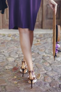 Zapatos lilas morados invitada boda