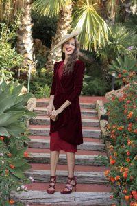 vestido abrigo invitada boda bautizo comunion granate invitada perfecta blog