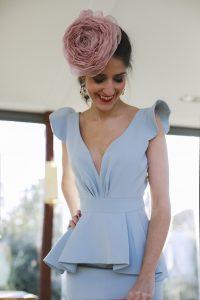 Look invitada boda mañana madre comunion vestido azul