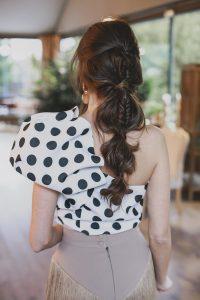 coleta burbujas trenza peinado novia invitada