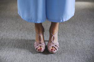 look comunión boda bautizo traje chequeta azul