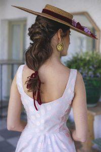Peinado trenza coleta recogido boda