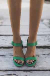 Sandalias verdes fiesta
