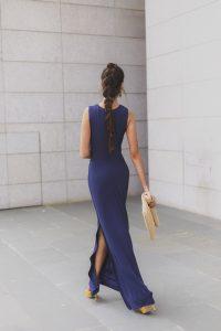 Look invitada boda lowcost vestido largo trenza cresta invitada 2018