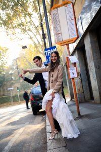 Sesión postboda blogger invitada perfecta milan vestido rosa clara