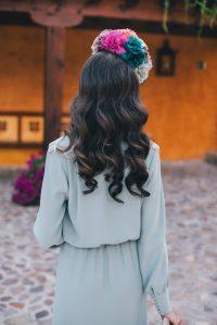 Peinado invitada novia ondas agua