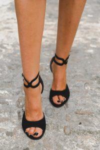 Sandalias negras invitada boda