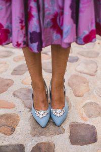 zapatos comodos invitada novia boda azules