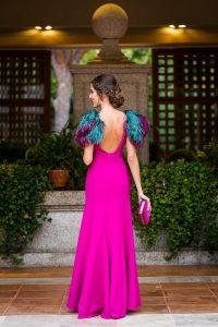 Look invitada hermana novia vestido largo boda noche invitada perfecta