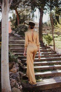 Look invitada boda 2019 comunion bautizo mono jumpsuit tocado