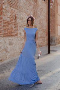look invitada boda noche 2019 vestido largo barato
