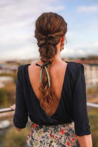 peinado novia invitada trenza desecha