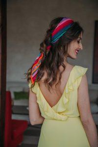 Peinado pañuelo invitada perfecta