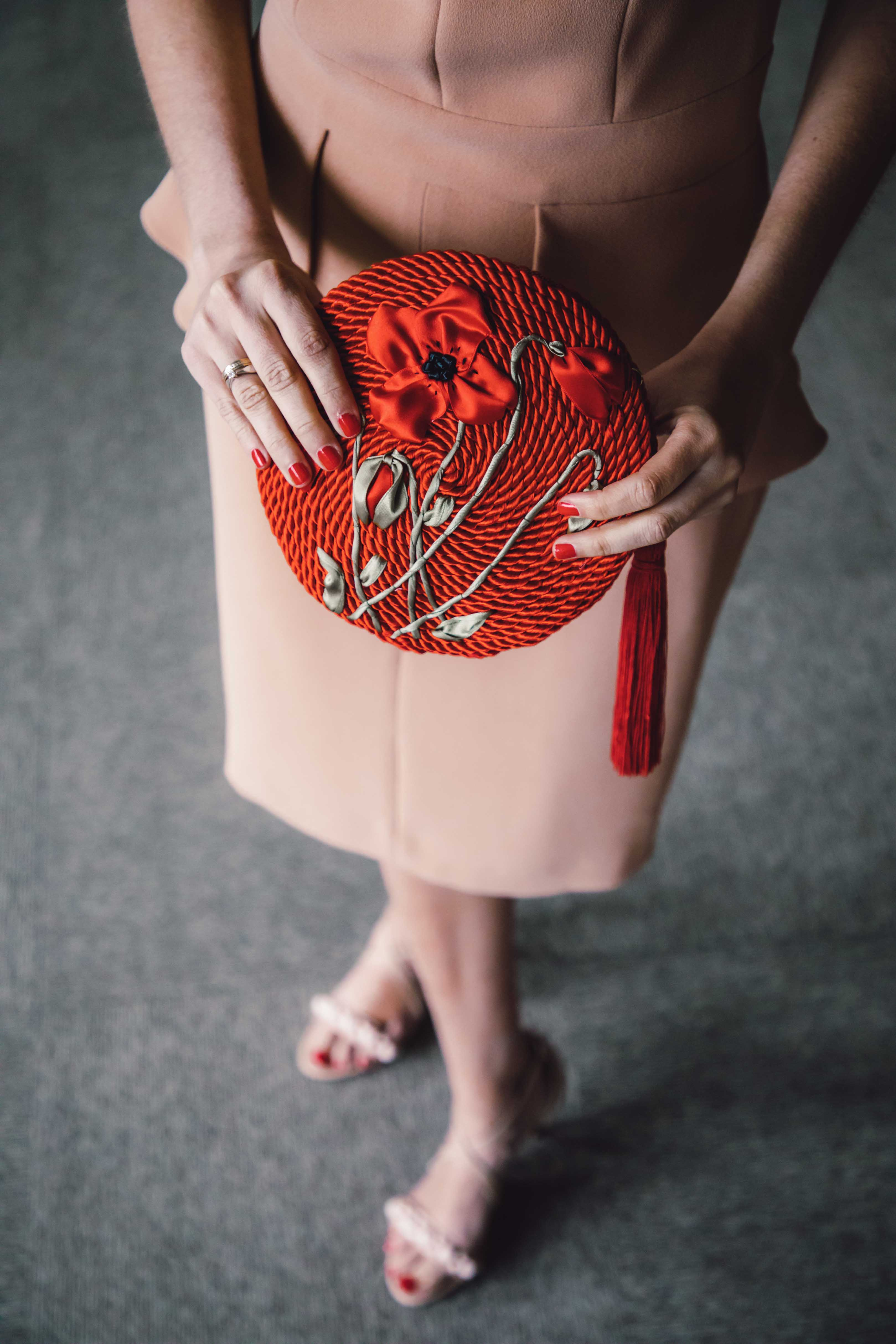 bolso invitada fiesta rojo