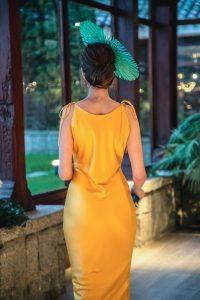 Vestido amarillo entubado Bruna
