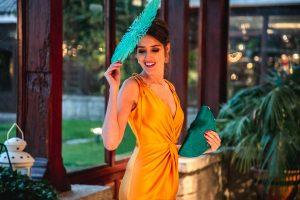 vestido amarillo bruna invitada boda