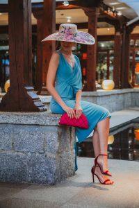 vestido corto invitada boda azul