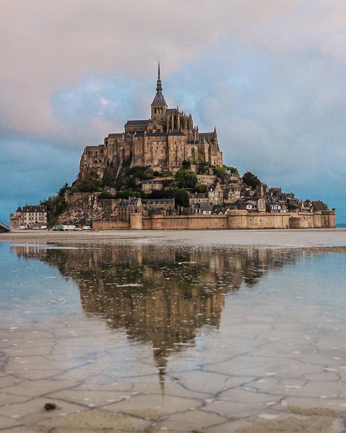 Mont Saint Michel Monte agua