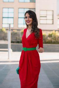 vestido rojo invitada lowcost comunion boda