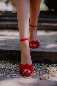 sandalias roja invitada boda