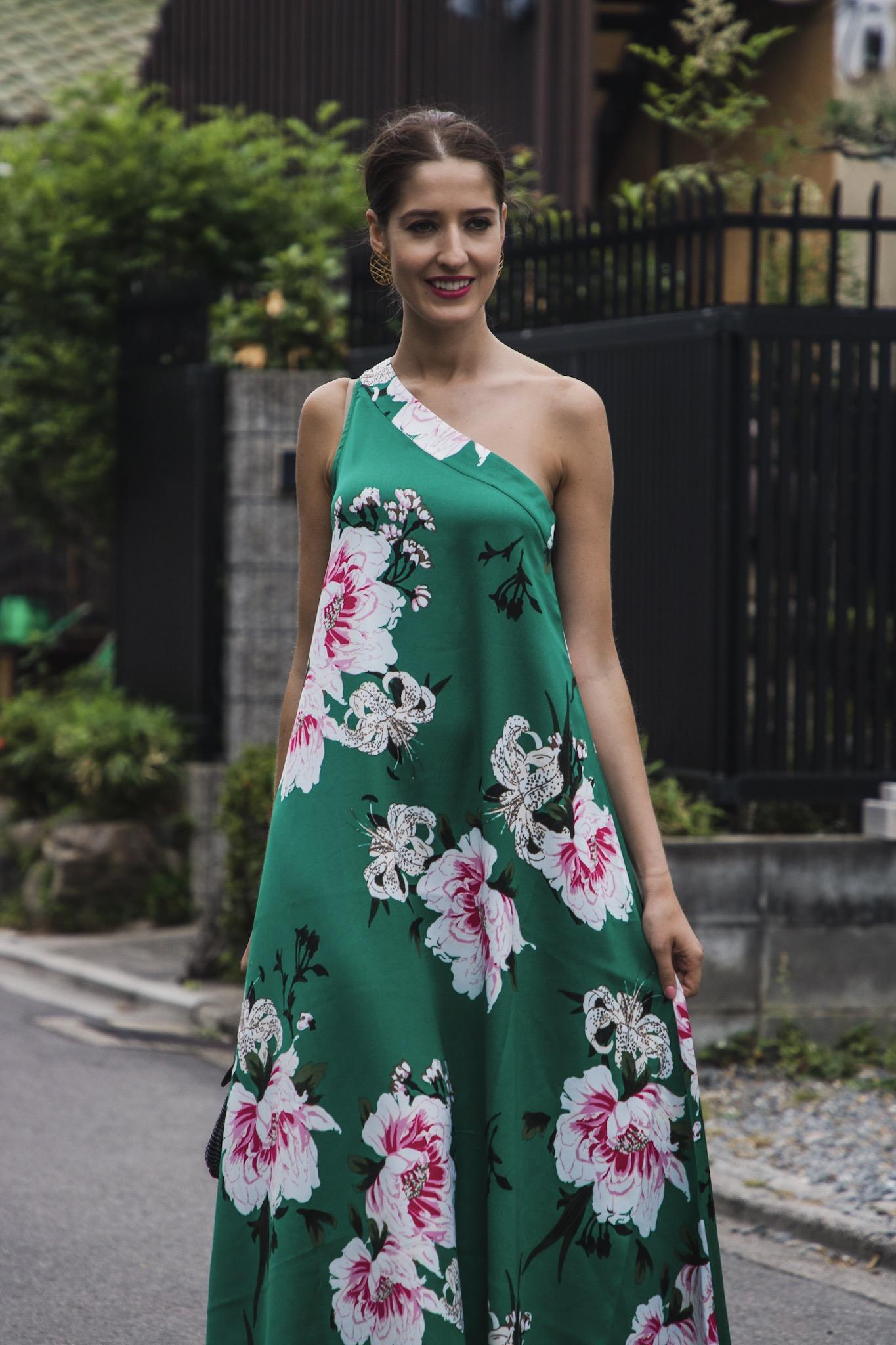 Vestido estampado invitada lowcost