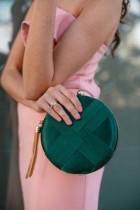 bolso verde invitada boda