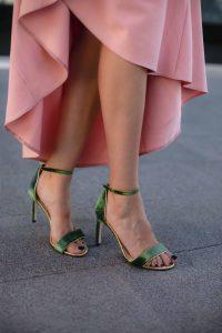 sandalias verde invitada boda