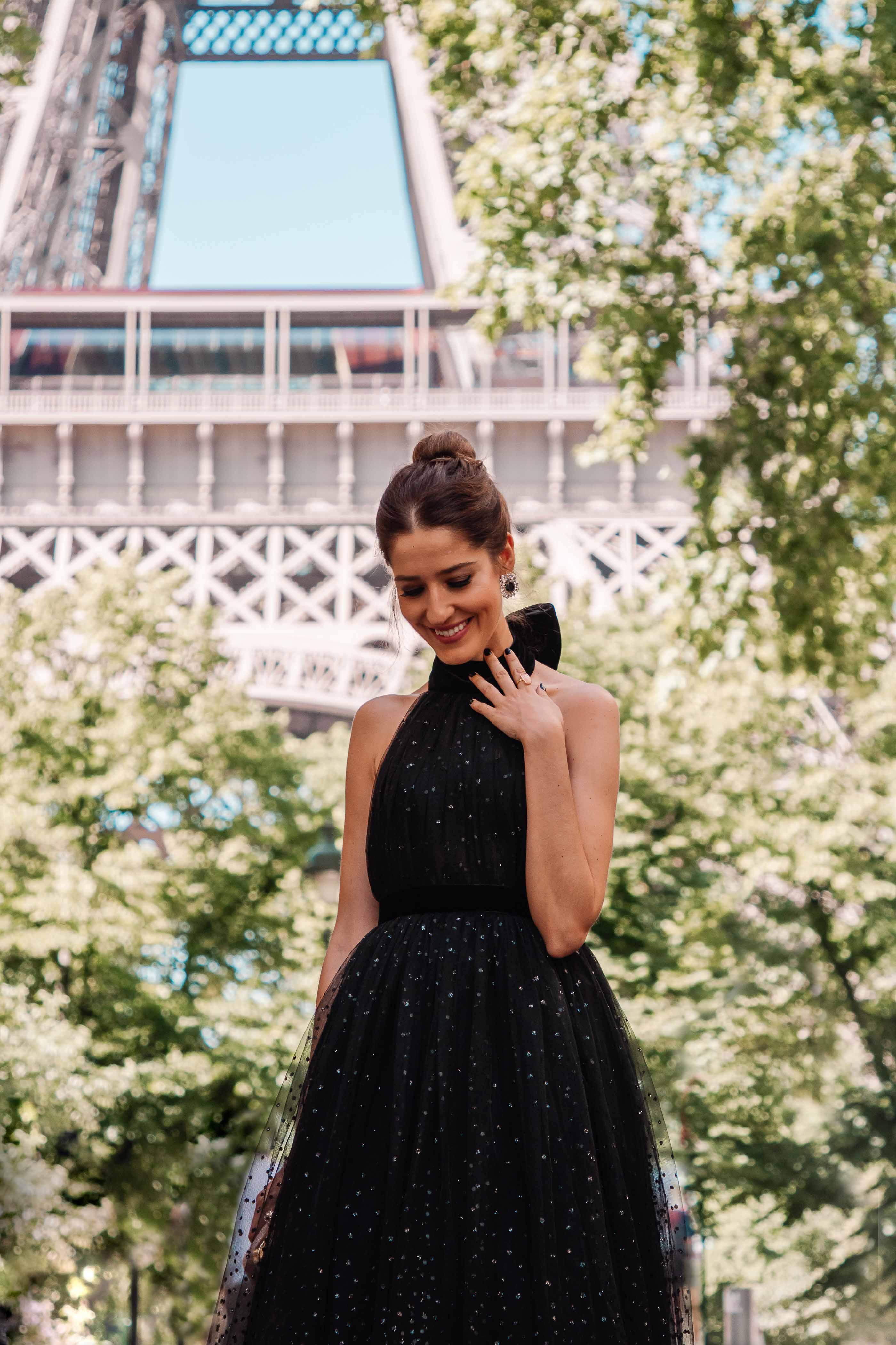 vestido tul negro invitada boda