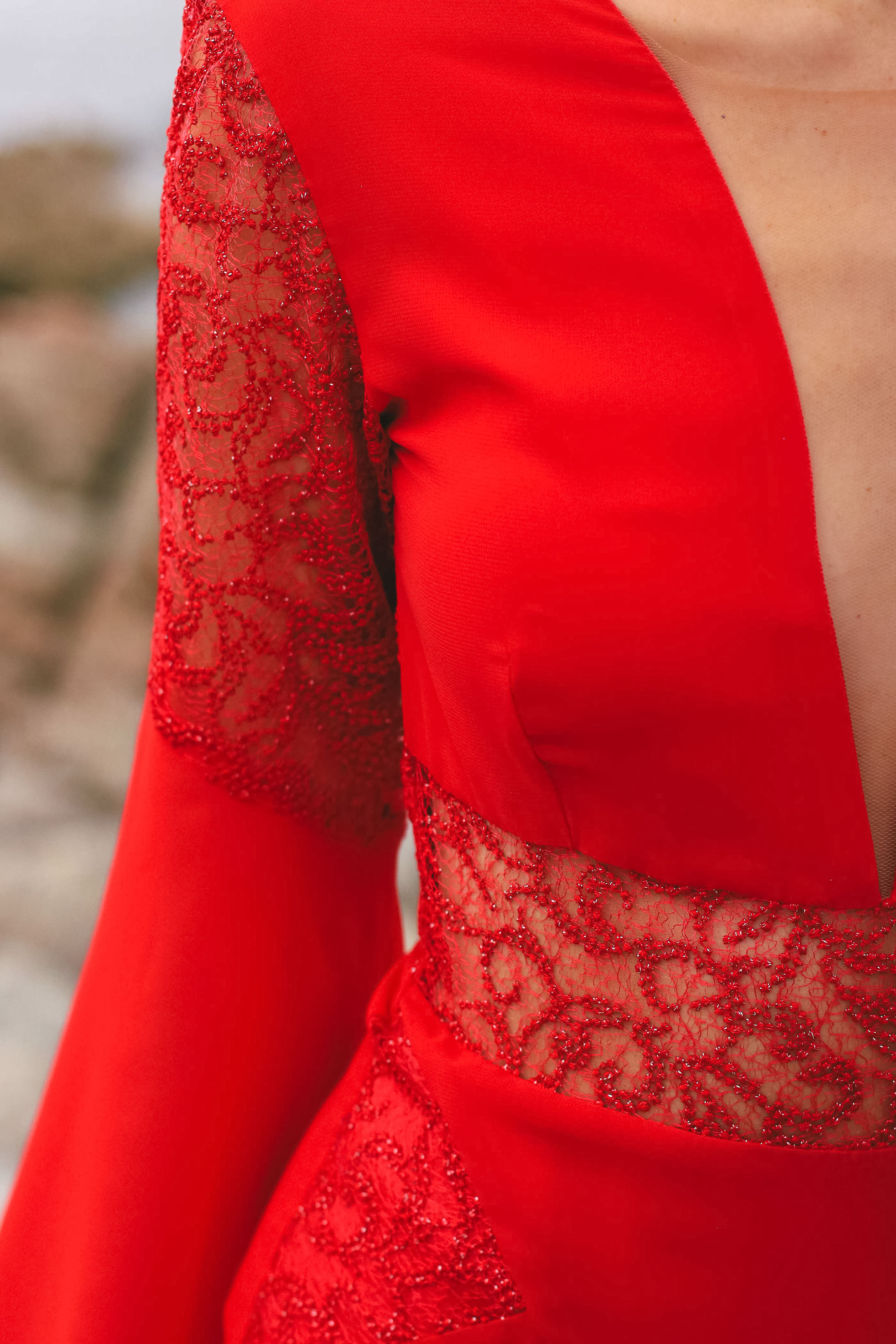 Vestido rojo boda invitada perfecta