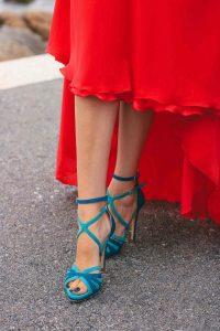 sandalia turquesa invitada comoda