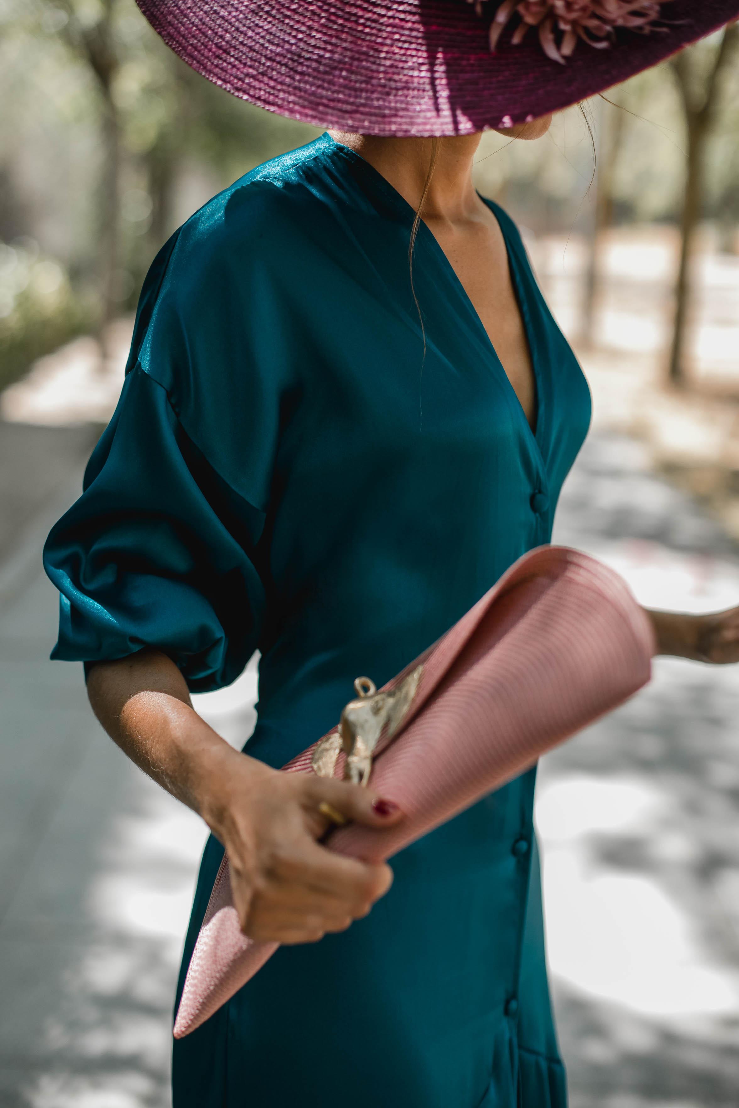 invitada boda otoño kimono pamela