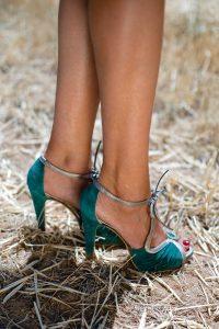 zapatos verde invitada