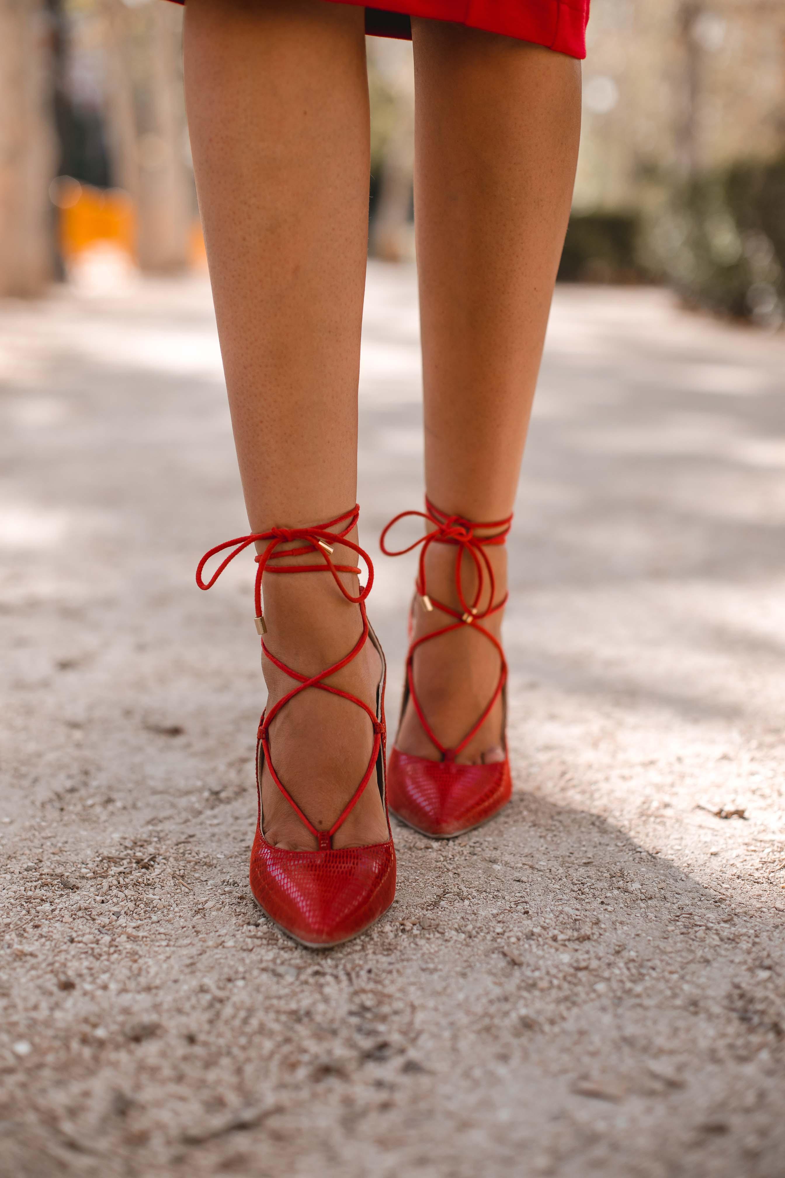 zapatos rojo invitada boda