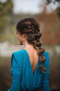 peinado invitada trenza burbuja
