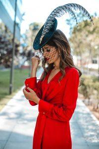 vestido rojo gemelos invitada boda