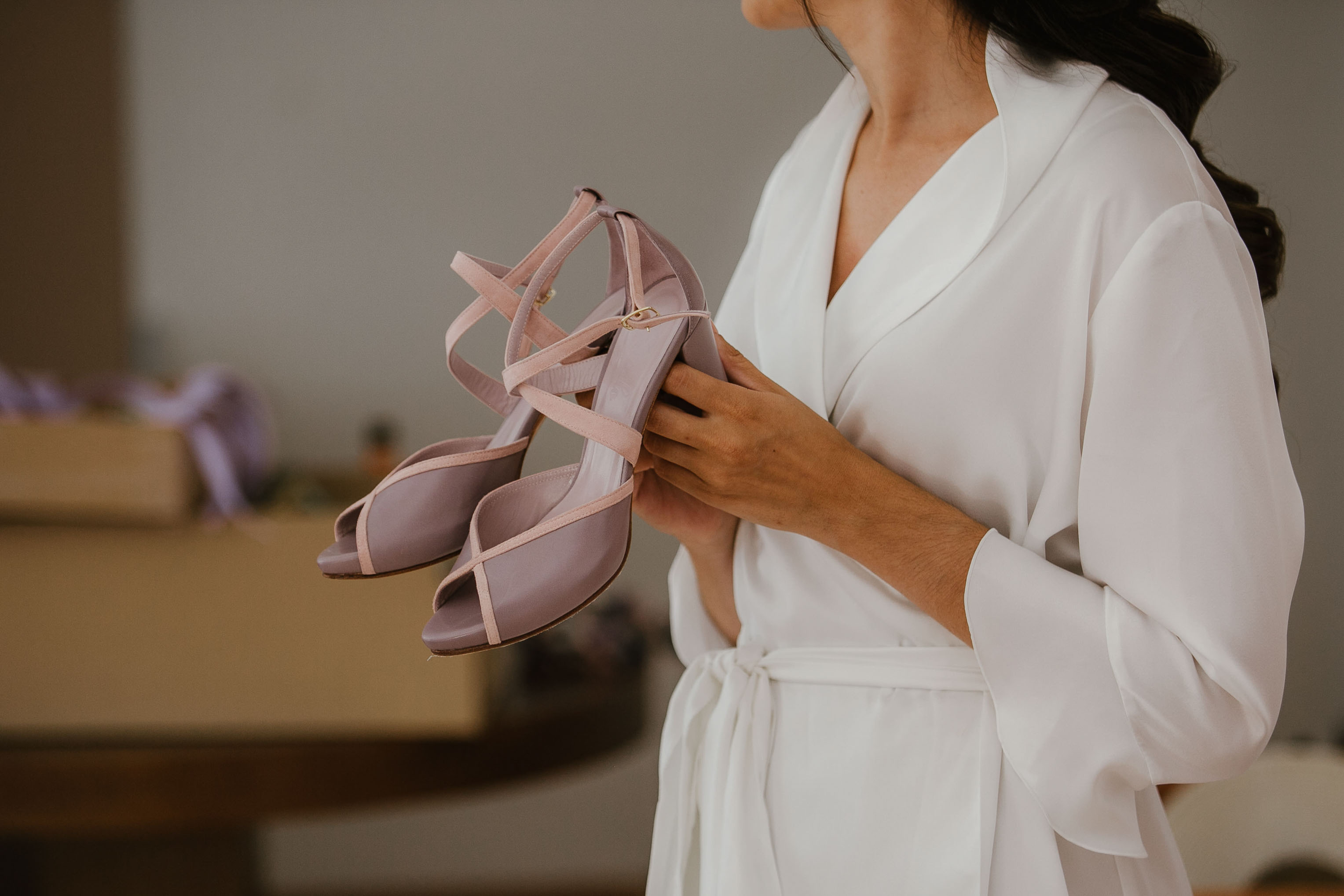 zapatos novia lavanda malvas morado