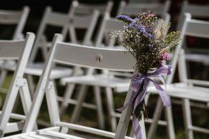 flores silvestre banco boda