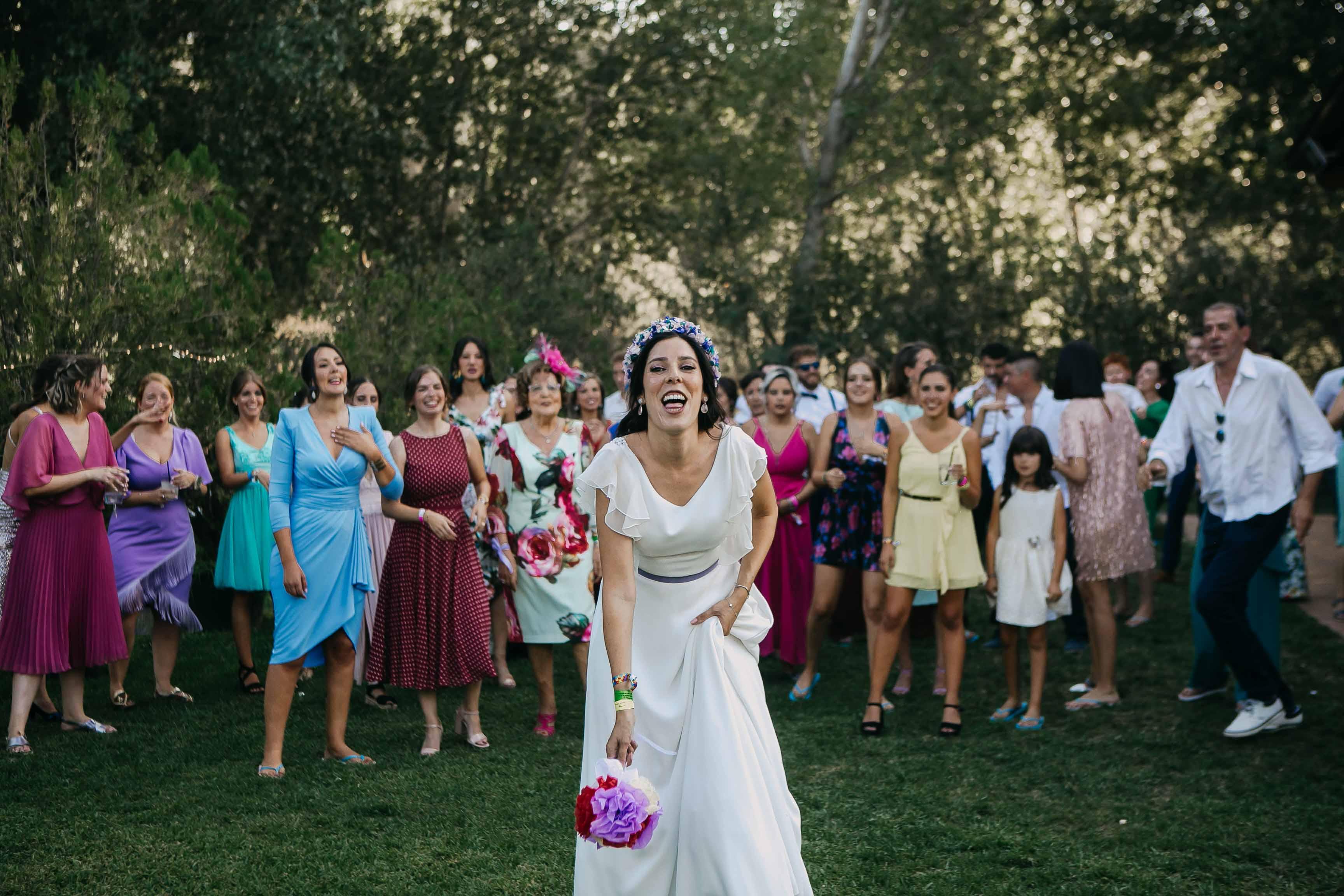 tirar ramo novia