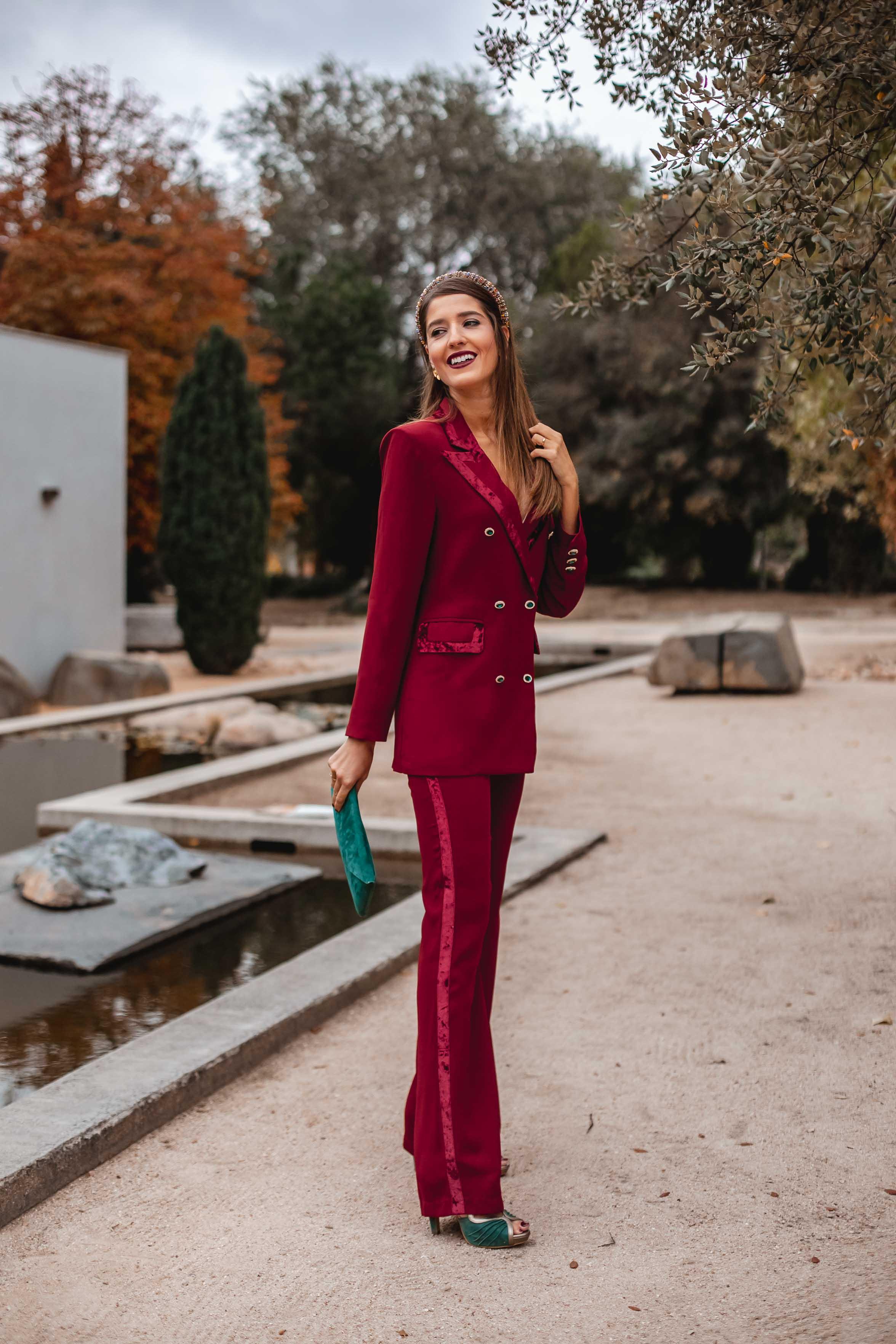 look invitada traje chaqueta boda