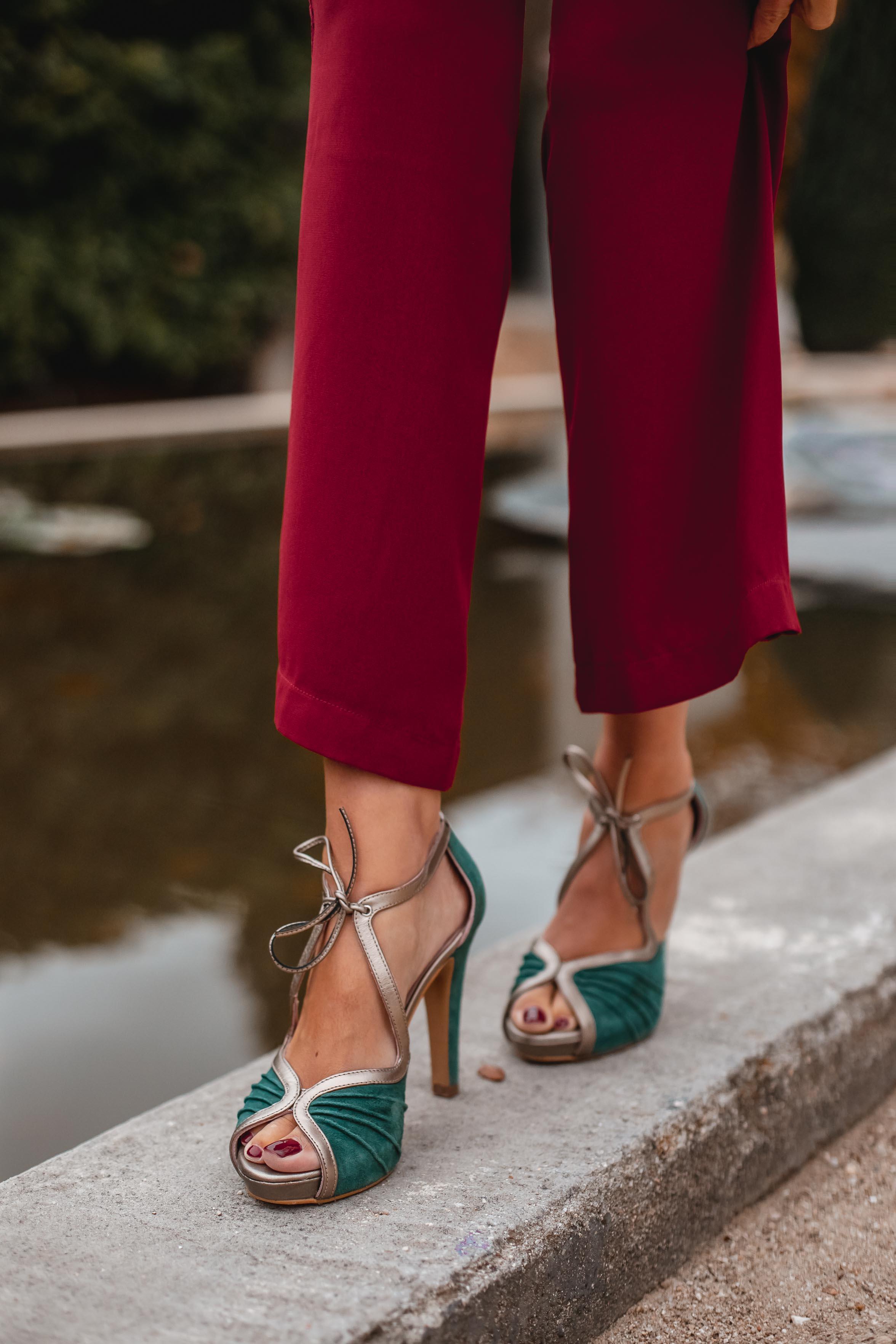zapatos verde invitada boda