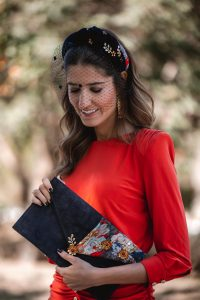 invitada boda turbante diadema otoño invierno