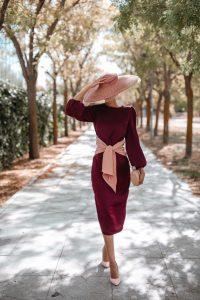 vestido granate pamela invitada boda