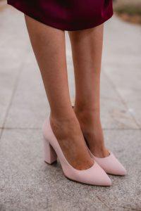 zapatos invitada boda comodos rosa