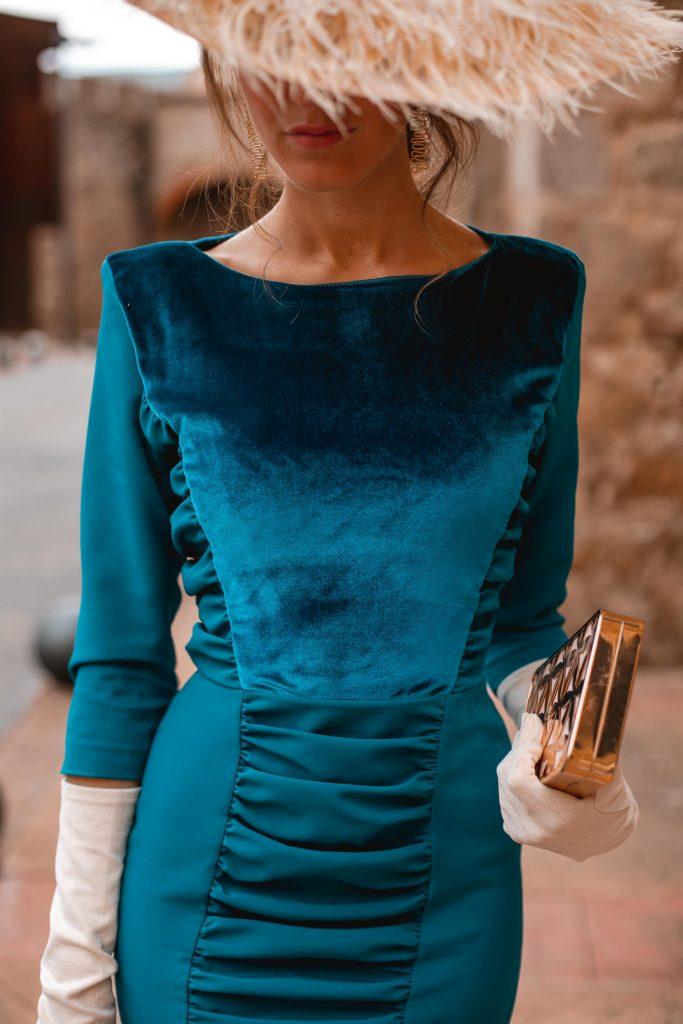 vestido terciopelo invitada boda