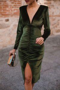 vestido verde terciopelo lolali