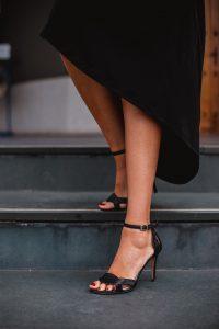 sandalias invitada negro
