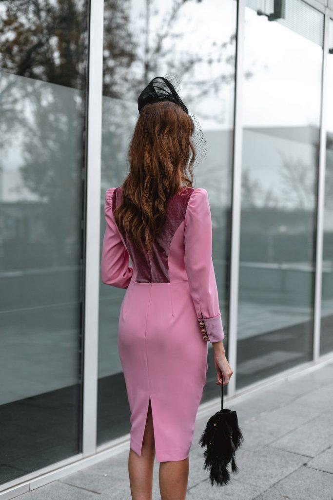 vestido rosa invitada boda