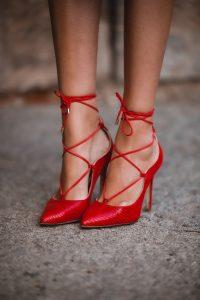 zapatos rojos comodos invitada boda